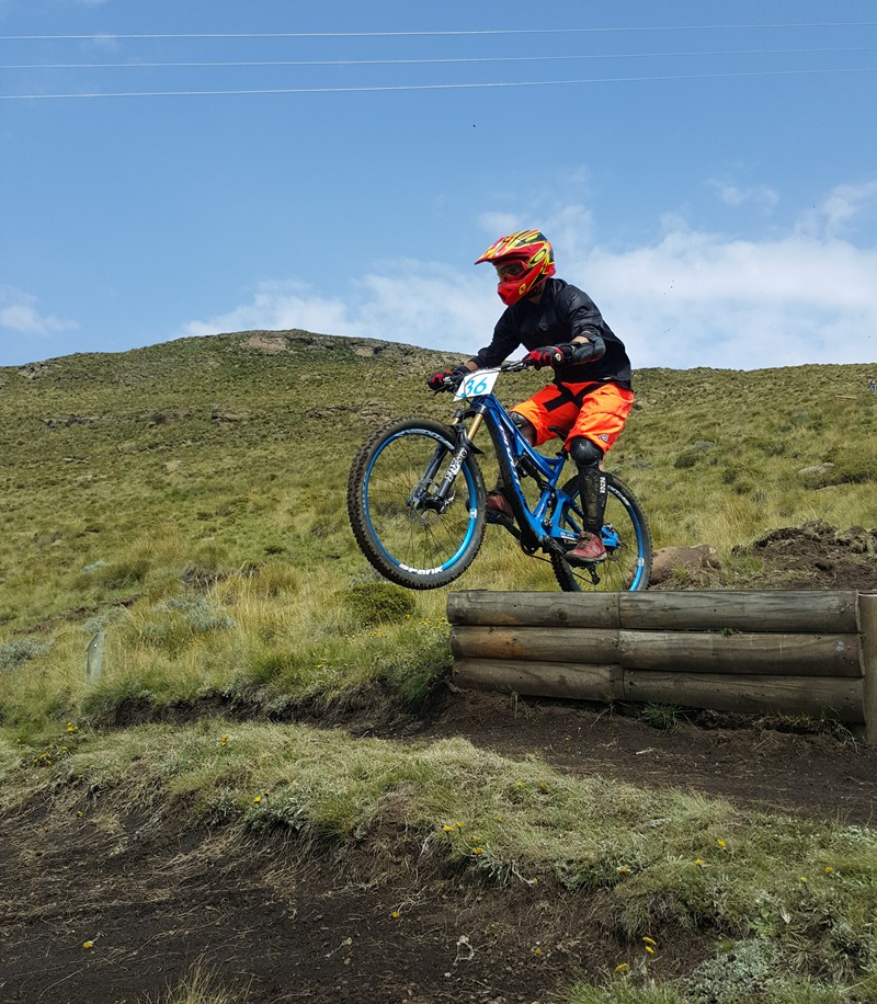 There's only one thing better than hitting a jump with a mountain bike... hitting a jump with a demo bike...