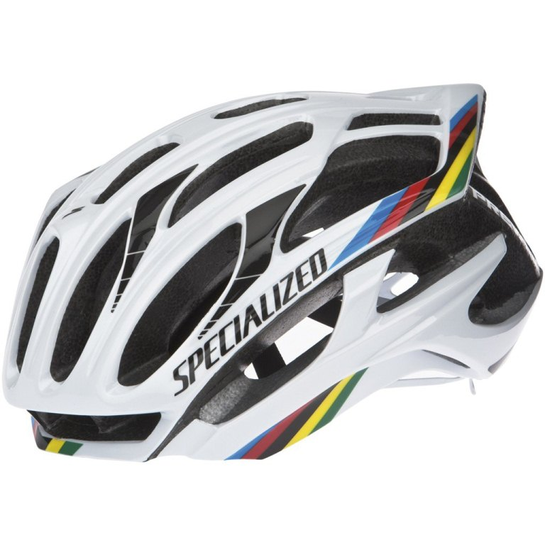 A genuine S-Works Prevail helmet. Always look for the EU or US safety certification stickers on any helmet you purchase.