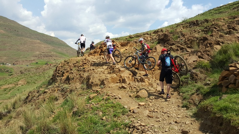 Lesotho is not an easy place to ride your bike. But it's a lot of fun!