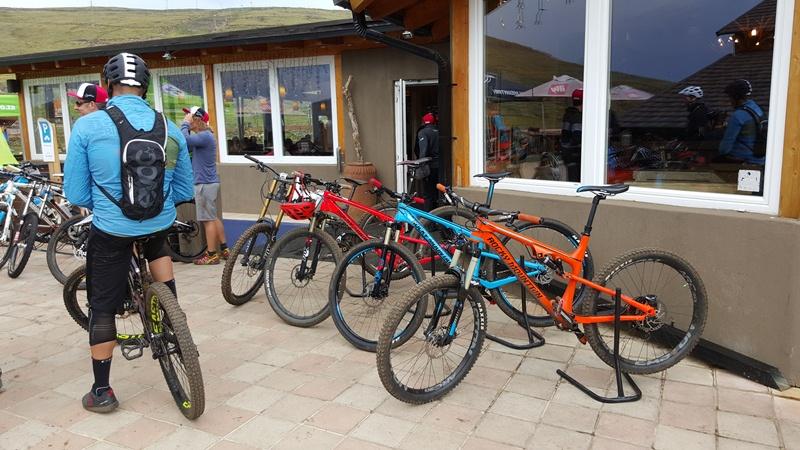 Some of the Rocky Mountain demo bikes.